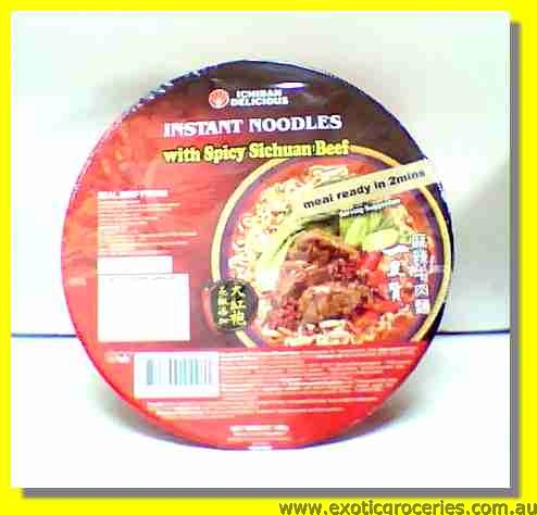 Ichiban Delicious Instant Noodles with Spicy Sichuan Beef