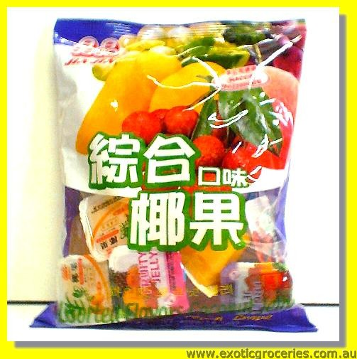 Assorted Fruit Coconut Jelly