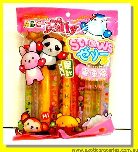 Jelly Straws Assorted Fruit Flavour