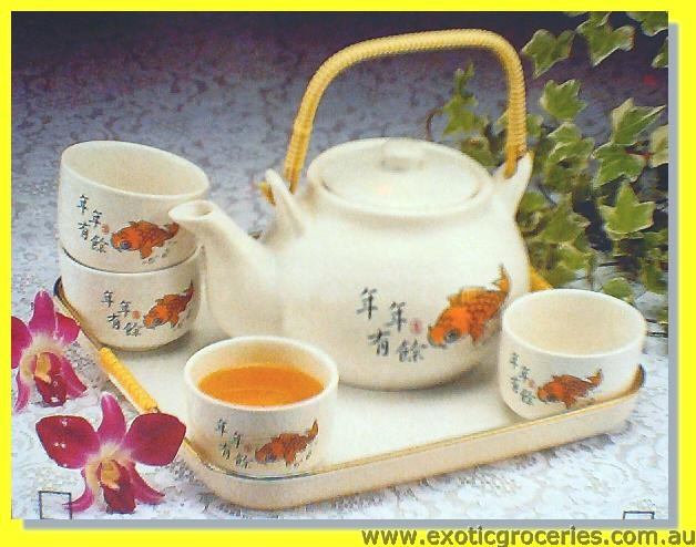 Tea Set 6pcs Fish