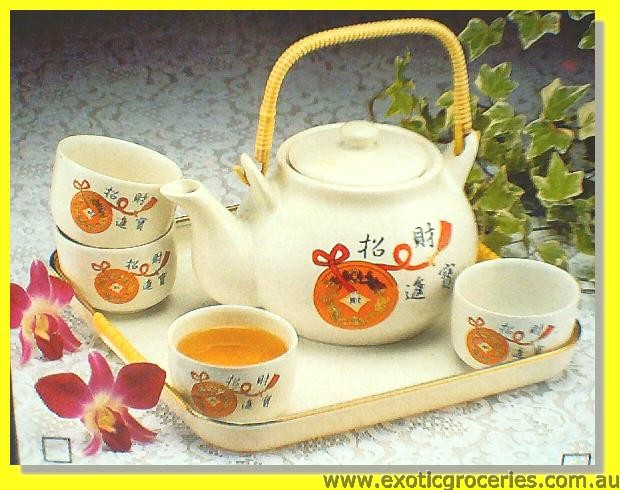 Tea Set 6pcs Lucky Coins