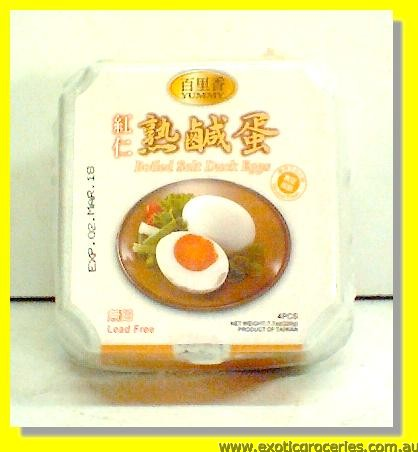 Boiled Salted Duck Eggs 4pcs