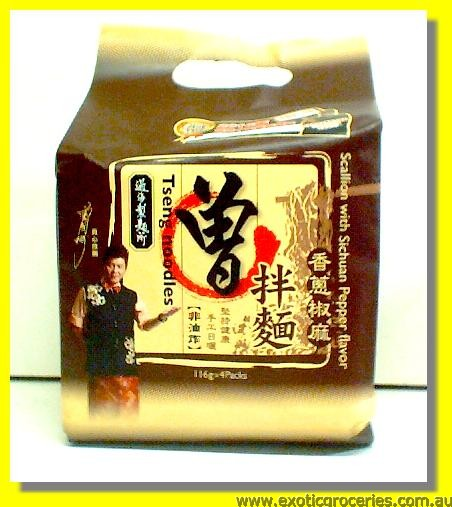 Tseng Noodles Scallion with Sichuan Pepper Flavour 4pkts
