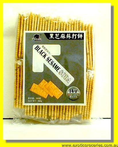 Black Sesame Soda Crackers 14packs