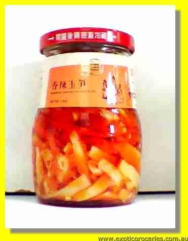 Pickled Bamboo Shoots in Chili Oil