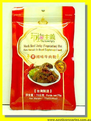 Vegetarian Beef Jerky Hot