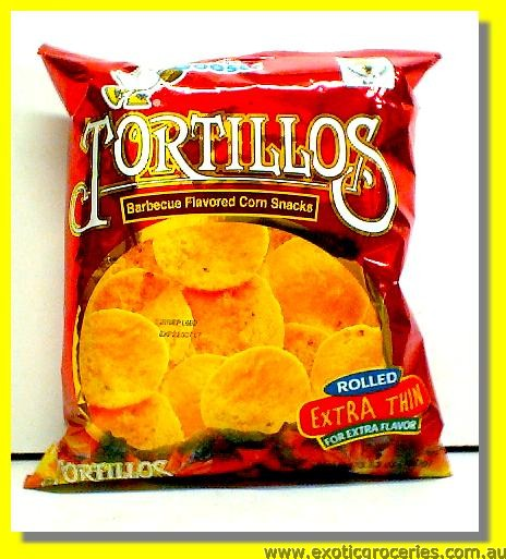 Tortillos Barbeque Flavoured Corn Snacks