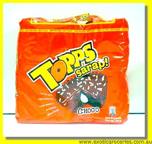 Topps Sarap Choco Cupcake with Choco Frosting 10packs