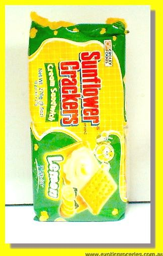 Lemon Flavour Cream Sandwich Crackers 10packs