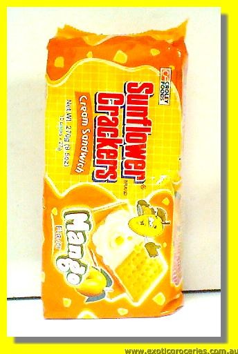 Mango Flavour Cream Sandwich Crackers 10packs