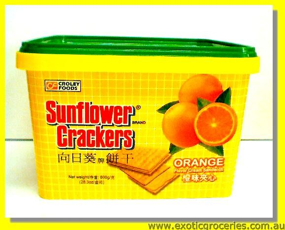Orange Flavour Cream Sandwich Crackers