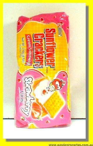 Strawberry Flavoured Cream Sandwich Crackers 10packs