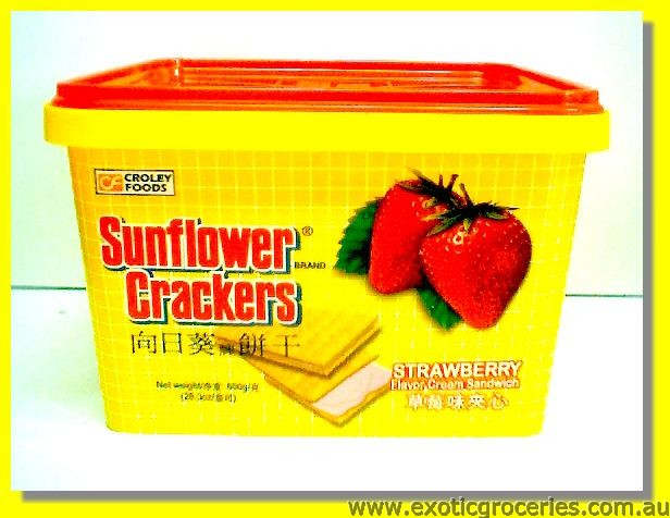 Strawberry Flavour Cream Sandwich Crackers