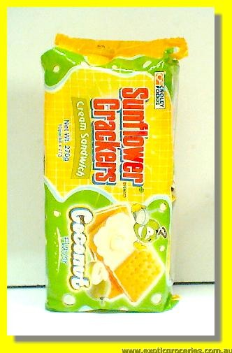 Sunflower Crackers Coconut Flavour Cream Sandwich Crackers 10pac