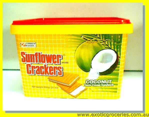 Sunflower Crackers Coconut Flavoured Cream Sandwich Crackers