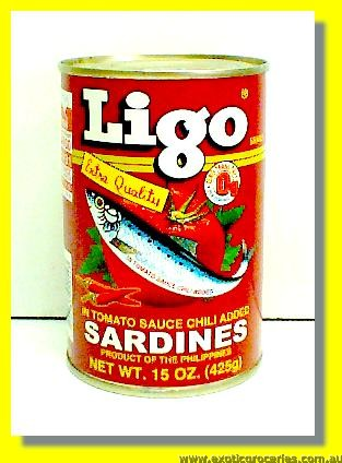 Red Sardines In Tomato Sauce Chili Sauce Added