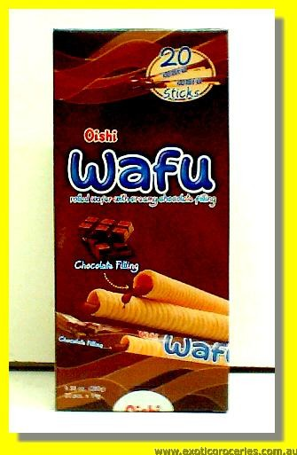 Wafu Rolled Wafer with Creamy Chocolate Filling 20pcs