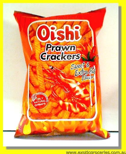 Prawn Crackers Sweet & Extra Hot Flavour