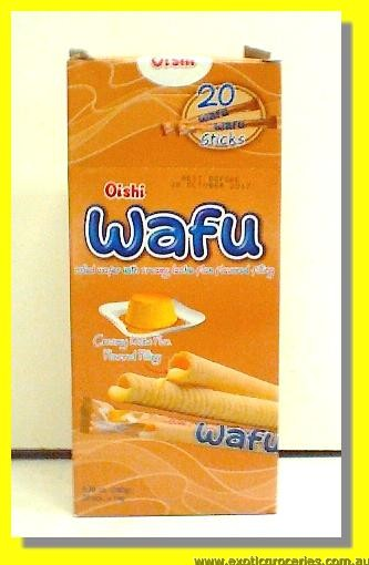 Wafu Rolled Wafer with Creamy Leche Flan Flavoured Filling 20pcs