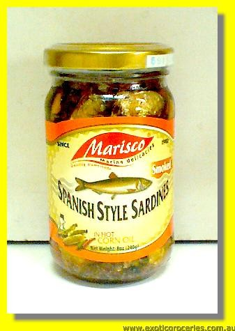 Spanish Style Sardines in Hot Corn Oil