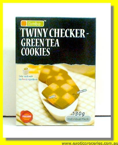 Twiny Checker Green Tea Cookies