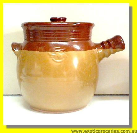 Tall Claypot Congee Pot #4