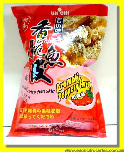 Crisp Fish Skin Aromatic Peppery Flavour