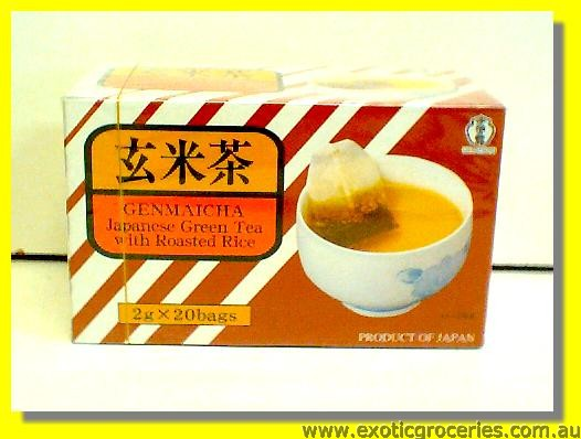 Genmaicha 20teabags Japanese Green Tea with Roasted Rice