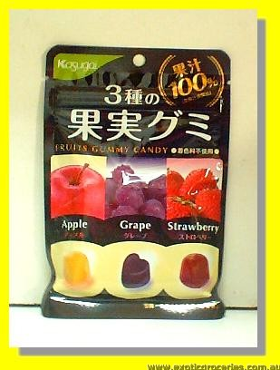 Fruits Gummy Candy (Apple, Grape, Strawberry)