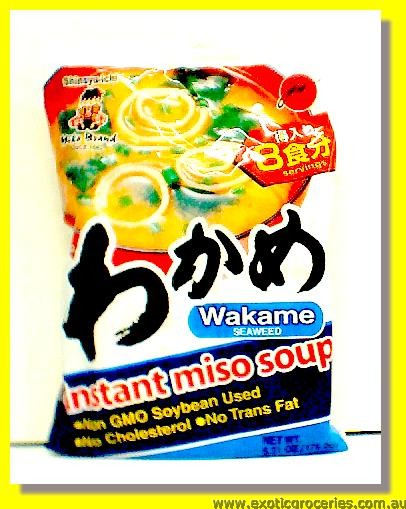 Instant Miso Soup Wakame Seaweed Flavour 8 Servings