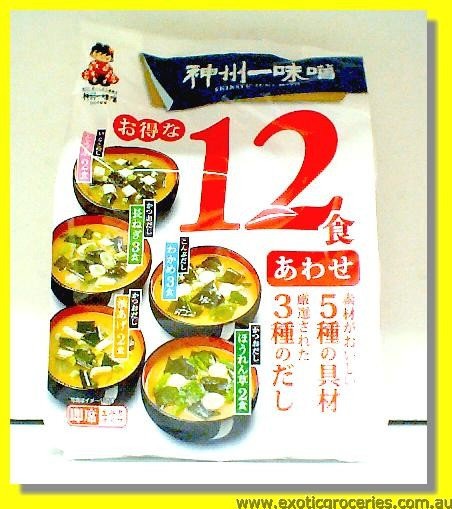 Instant Miso Soup Awase 12Servings