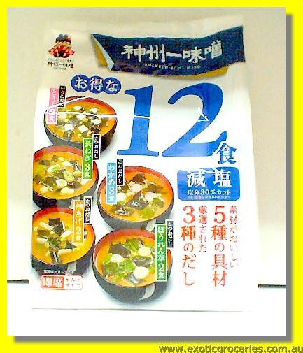 Instant Miso Soup Less Salt 12 Servings
