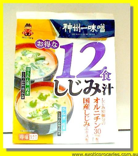 Instant Miso Soup Freshwater Clam Flavour 12Servings
