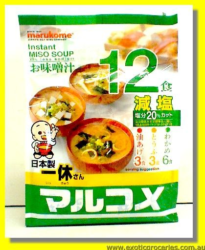 Instant Miso Soup Less Sodium Assorted Flavoured 12servings