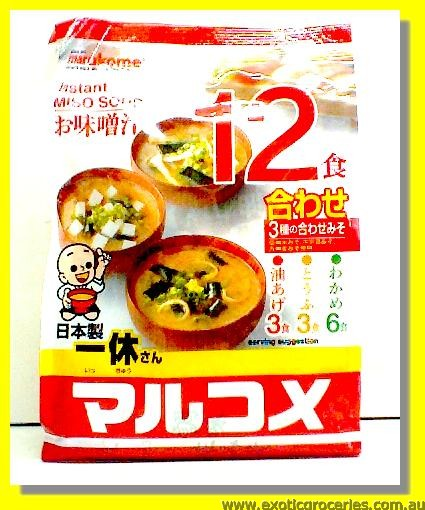 Instant Miso Soup Assorted Flavoured 12servings