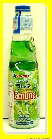 Ramune Carbonated Soft Drink Melon Flavour