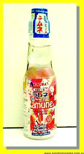Ramune Carbonated Soft Drink Lychee Flavour