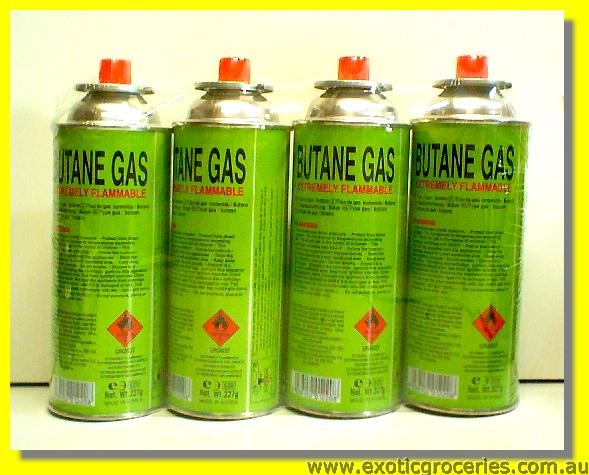 Butane Gas Cartridges 4cans