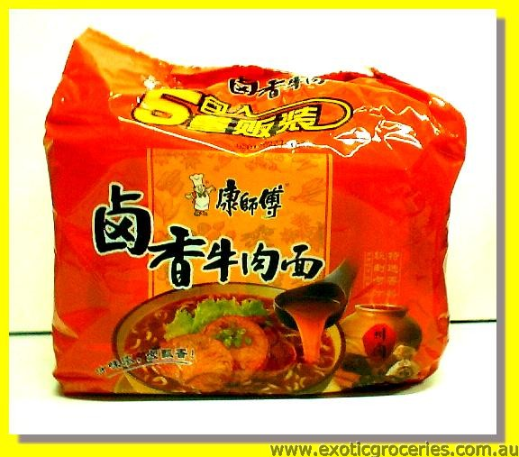 Instant Noodles Stewed Beef Flavour 5pkts