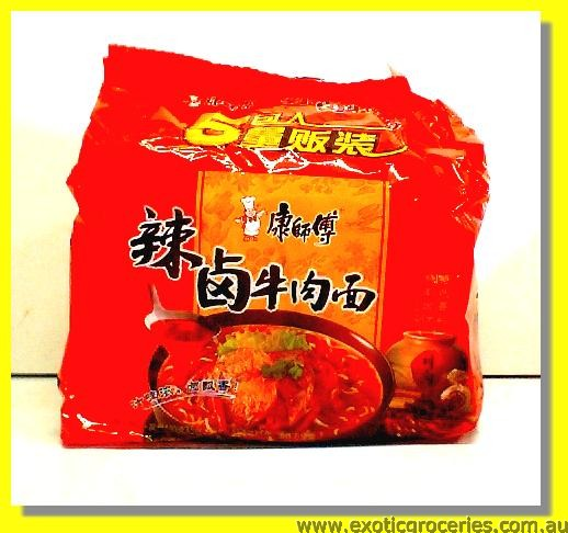 Instant Noodle Spicy Pickled Beef Flavour 5pkts