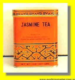 Jasmine Tea 1032 Square Yellow Tin
