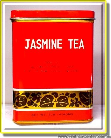 Jasmine Tea Square Red Tin 2062