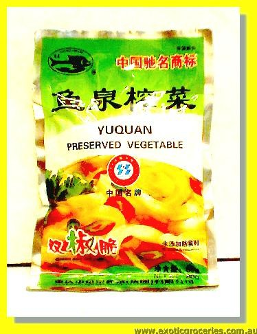 Yu Quan Preserved Vegetable Green & Red Chilli