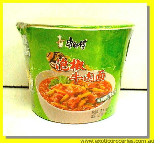Instant Bowl Noodle Pickled Pepper Beef Flavour