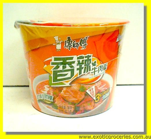 Instant Bowl Noodle Spicy Beef Flavour