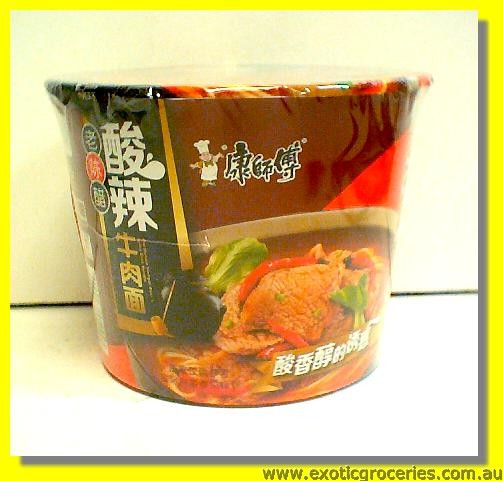 Instant Bowl Noodle Old Mature Vinegar & Spicy Beef Flavour