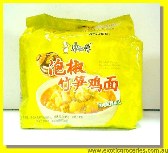 Pickled Pepper Bamboo Shoots Chicken Noodle 5packs