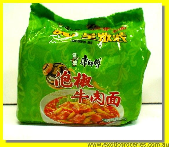 Instant Noodle Pickled Pepper Beef Flavour 5ptks
