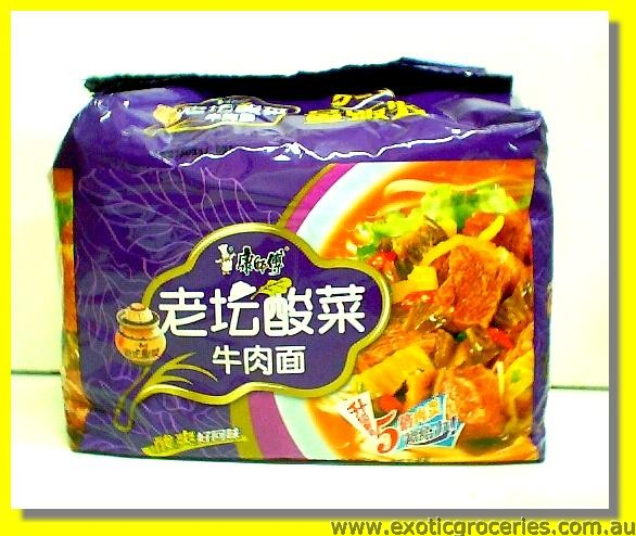 Instant Noodle Pickled Mustard & Beef Flavour 5pkts