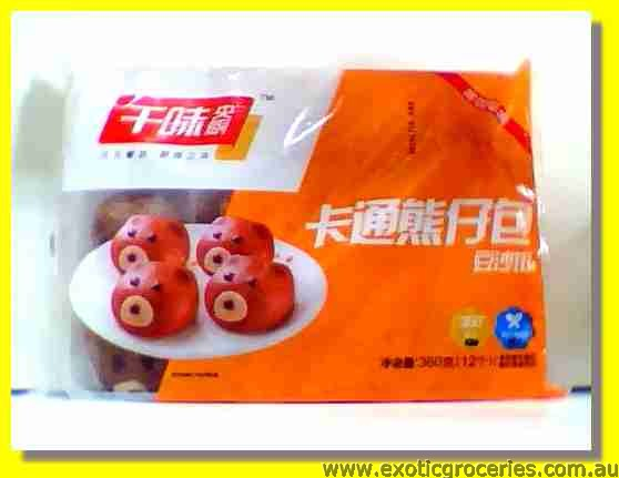Frozen Bear Shaped Red Bean Buns 12pcs